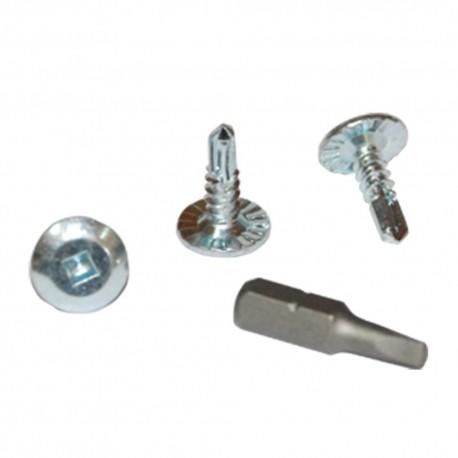 Tornillos ala ancha para tela metalica