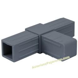Enlace unión t tubo aluminio para muebles